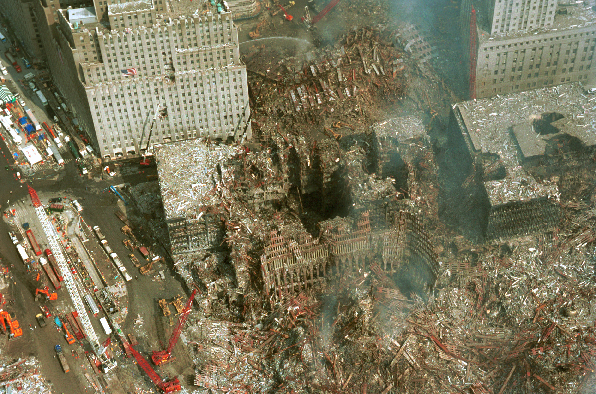 and just war engaging peace aftermath of 9 11 attacks view of world trade center ruins