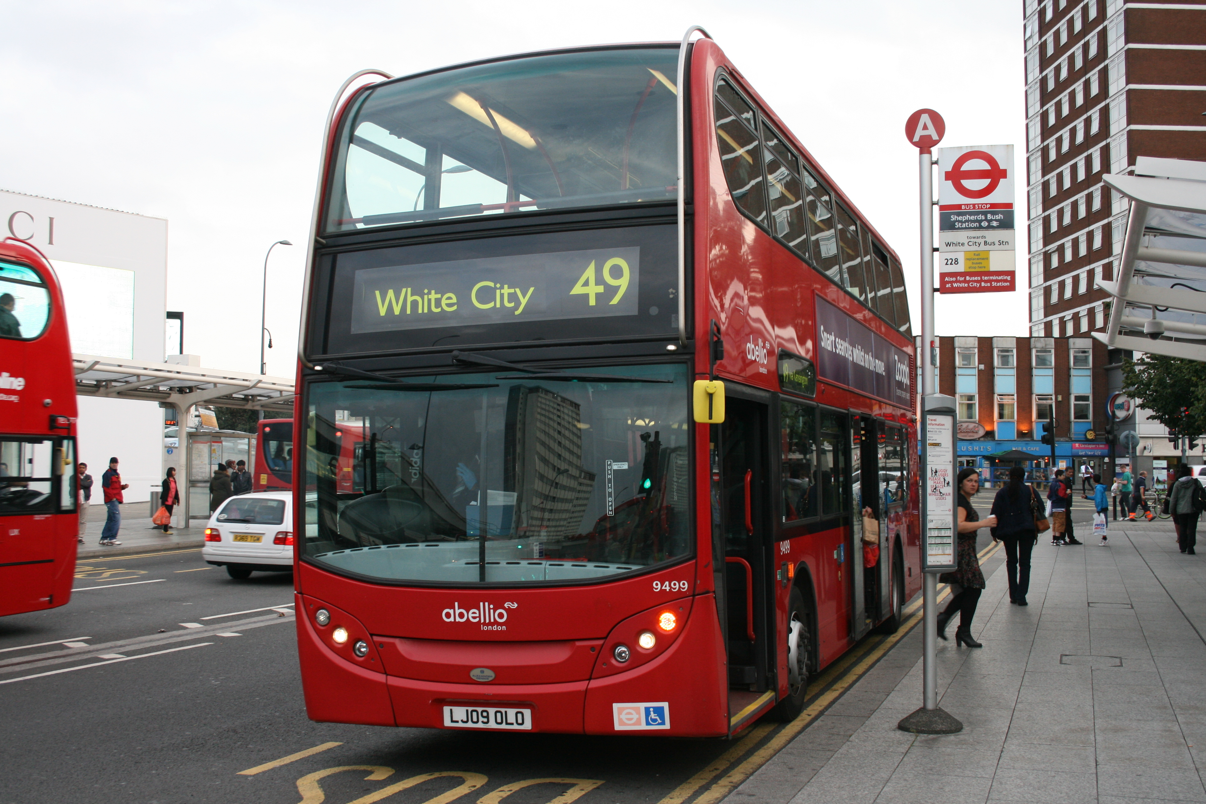 File Abellio London 9499 On Route 49 Shepherd S Bush