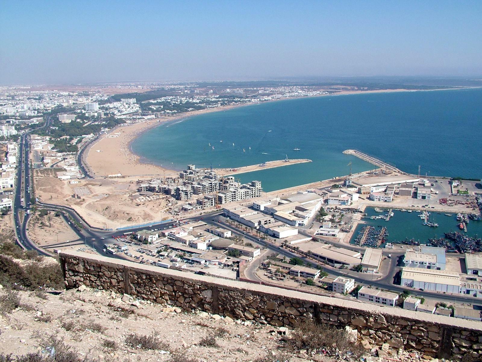 اكتشف المغرب في عشر دقائق  من أمواج الاندلس Agadir%2CMorocco