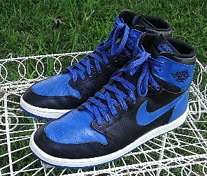 Blue Nike High Top Shoes