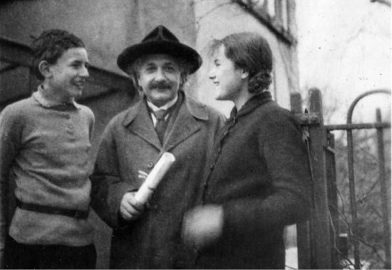 Albert Einstein with the children of scientist Paul Ehrenfest, circa 1930