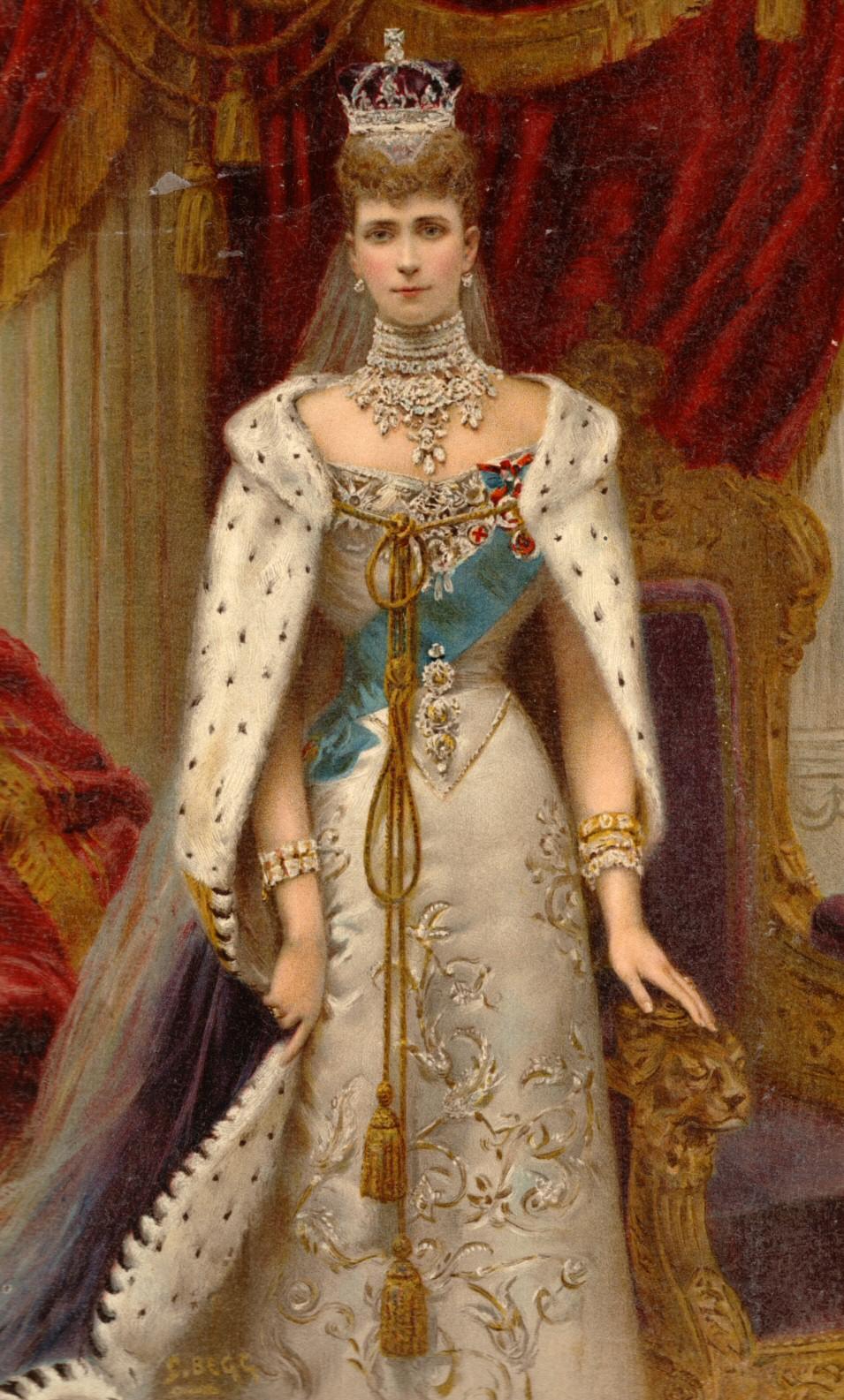 PRINCIPE ANDRES DE GRECIA Y DINAMARCA Alexandra_in_coronation_robes
