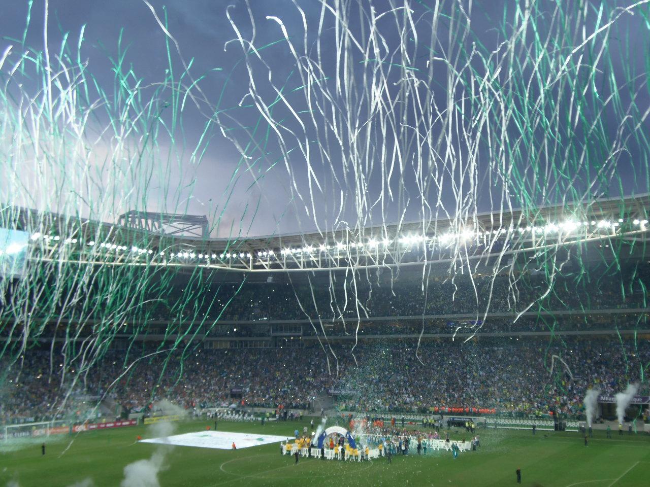 c99becd8ba Festa do Eneacampeonato Brasileiro do Palmeiras na arena