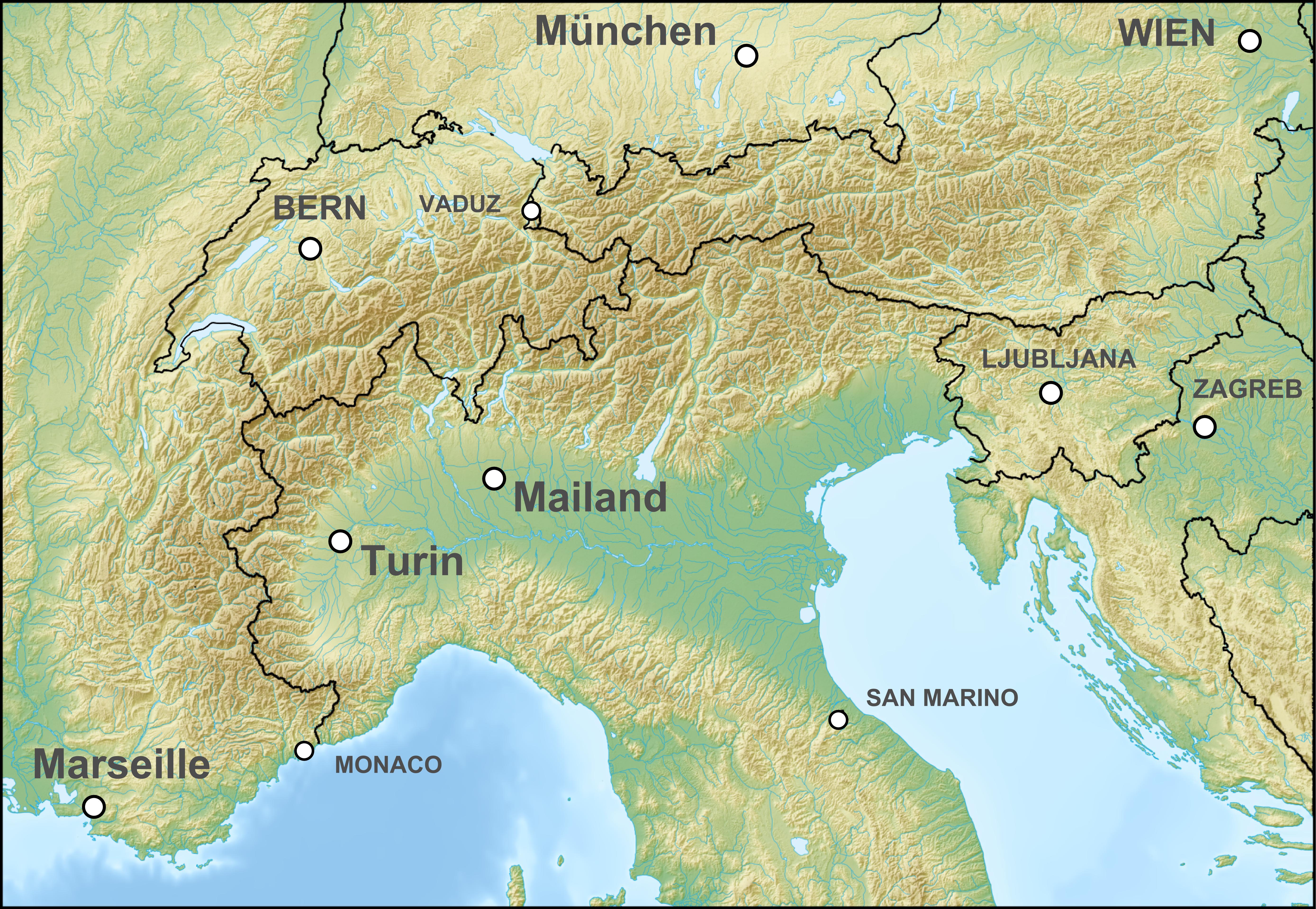 Vorarlberg Karte Berge.Alpenrheintal Wikipedia