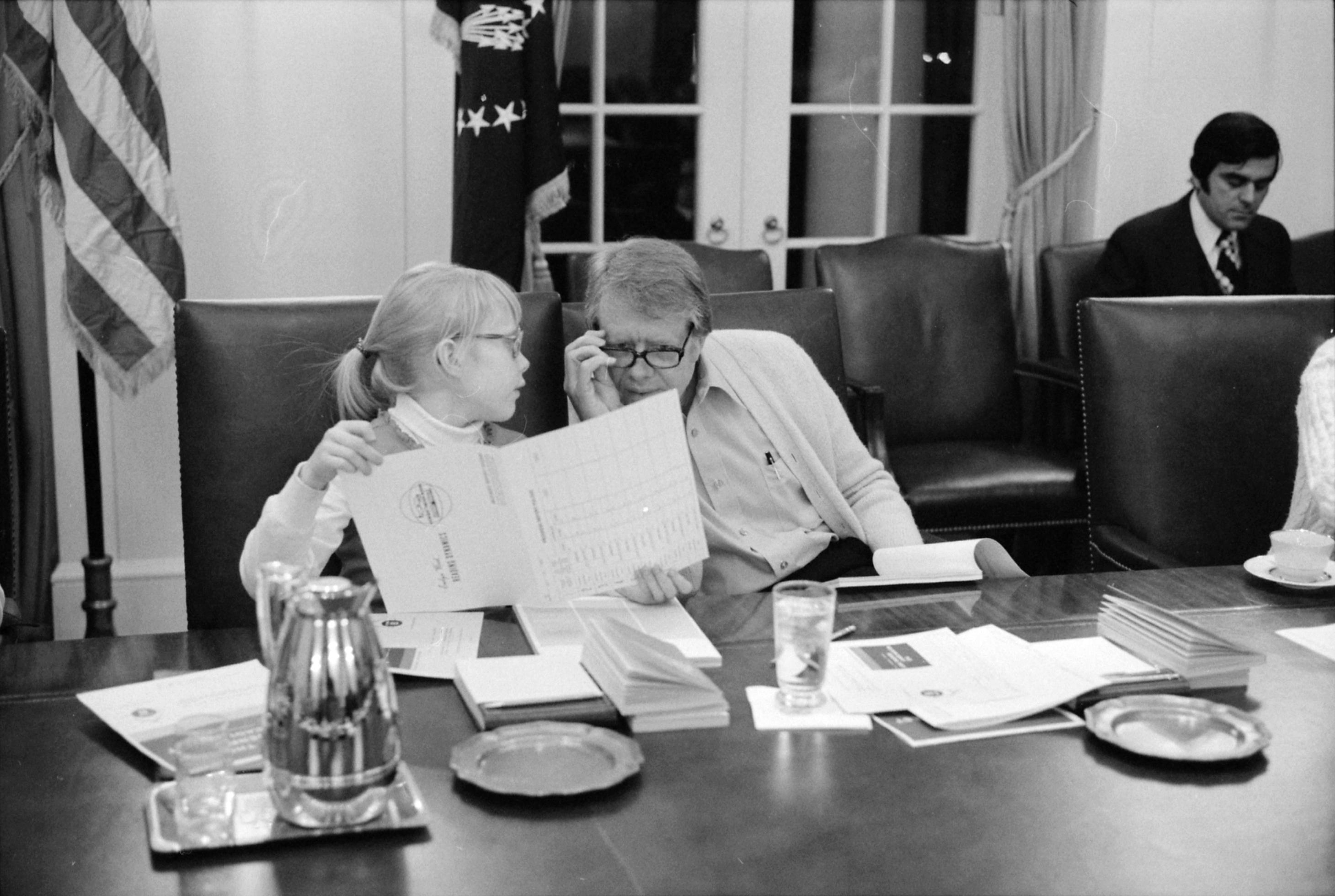 Oval Office Desk File Amy Carter And Jimmy Carter Participate In A Speed