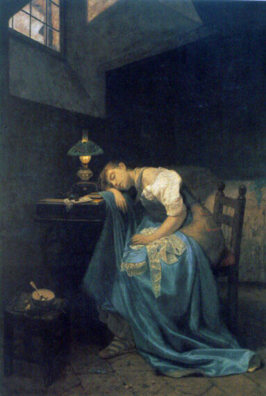 Angelo Trezzini - A Tired Seamstress