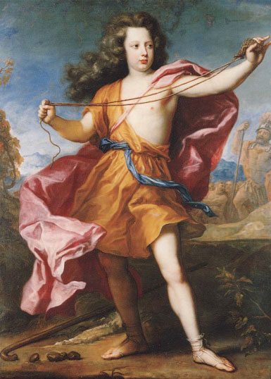 Portrait of crown prince Frederick William as David with a sling by Anthoni Schoonjans Anthoni Schoonjans - Portrait of crown prince Frederick William as David with a sling.jpg