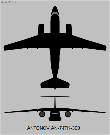 Antonov An-74TK-300 two-view silhouette.png