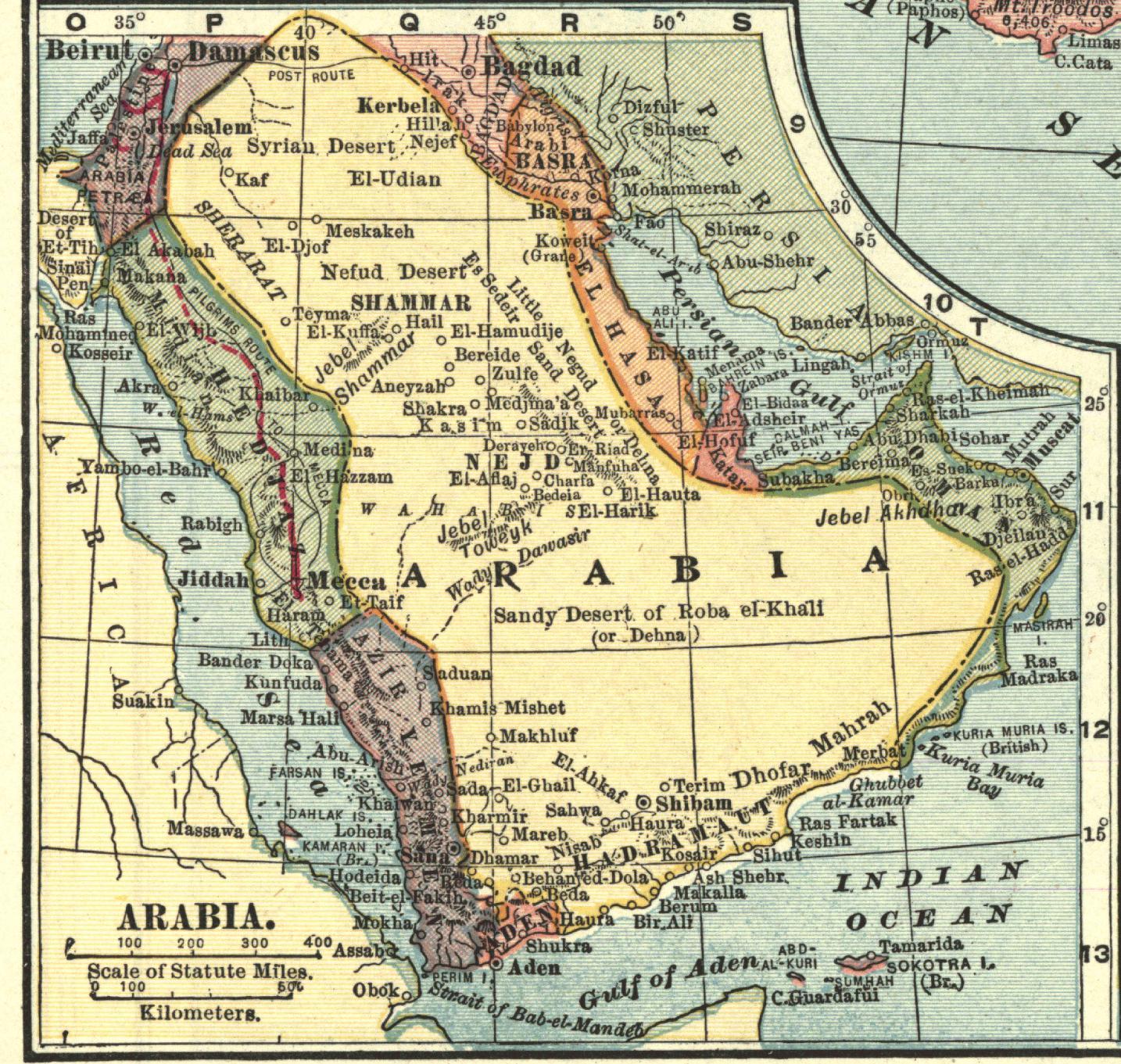File:Arabian peninsula, 1909 (cropped).jpg - Wikimedia Commons