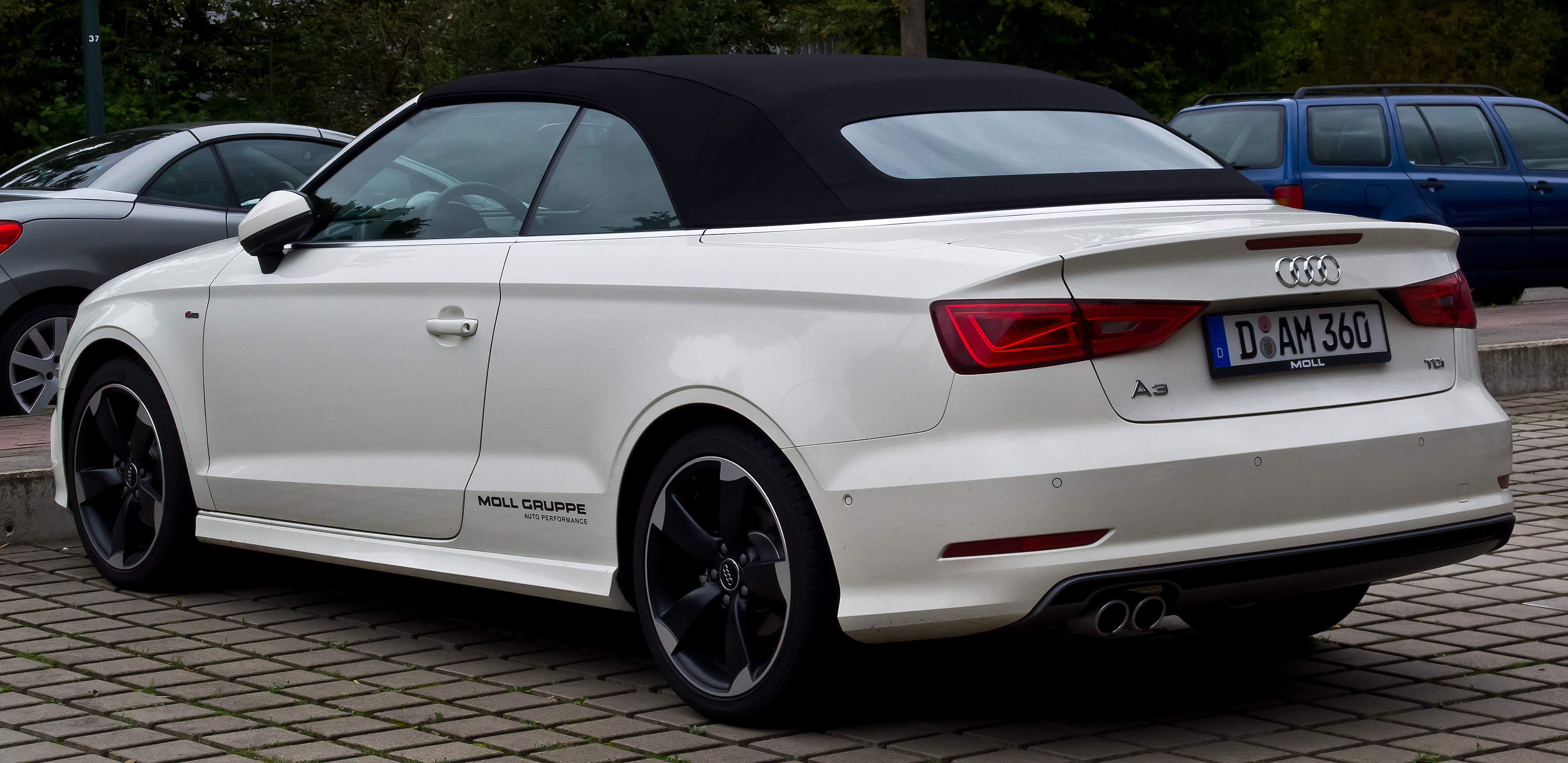 file audi a3 cabriolet 2 0 tdi ambition s line 8v heckansicht 30 august 2014 d sseldorf. Black Bedroom Furniture Sets. Home Design Ideas