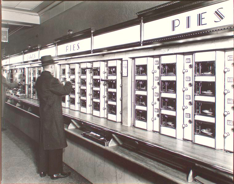 Automat in Manhattan (1936) by Berenice Abbott
