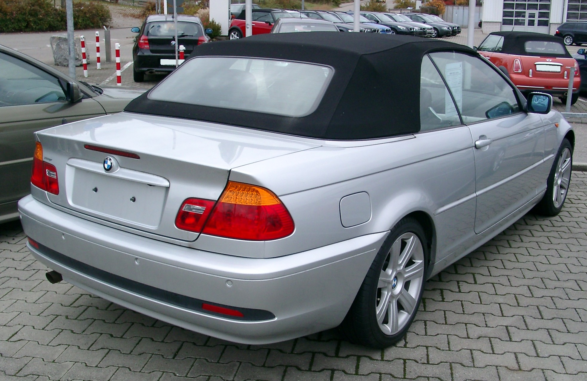 file bmw e46 cabrio rear wikimedia commons. Black Bedroom Furniture Sets. Home Design Ideas