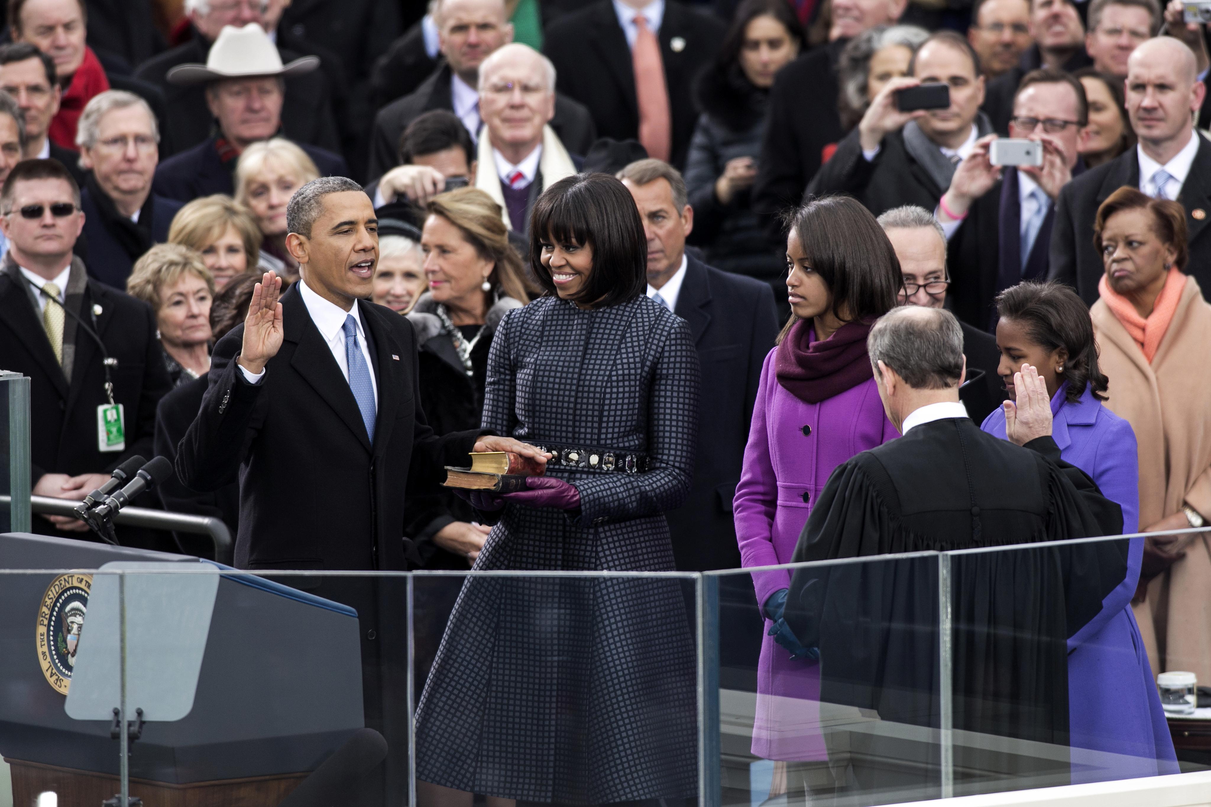 Barack Obama second swearing in ceremony 2013-01-21.jpg