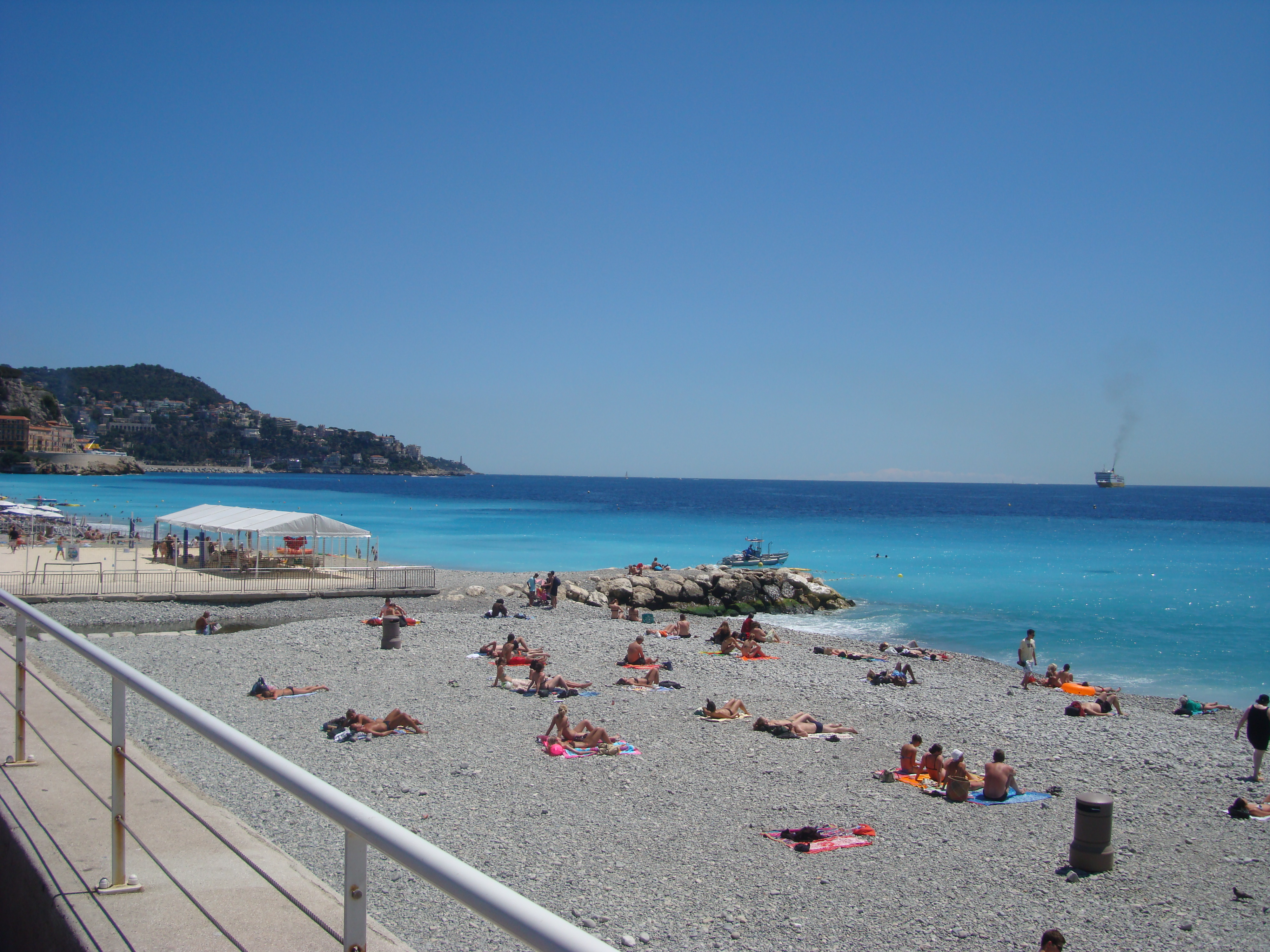 One of the many beautiful beaches of Nice, France