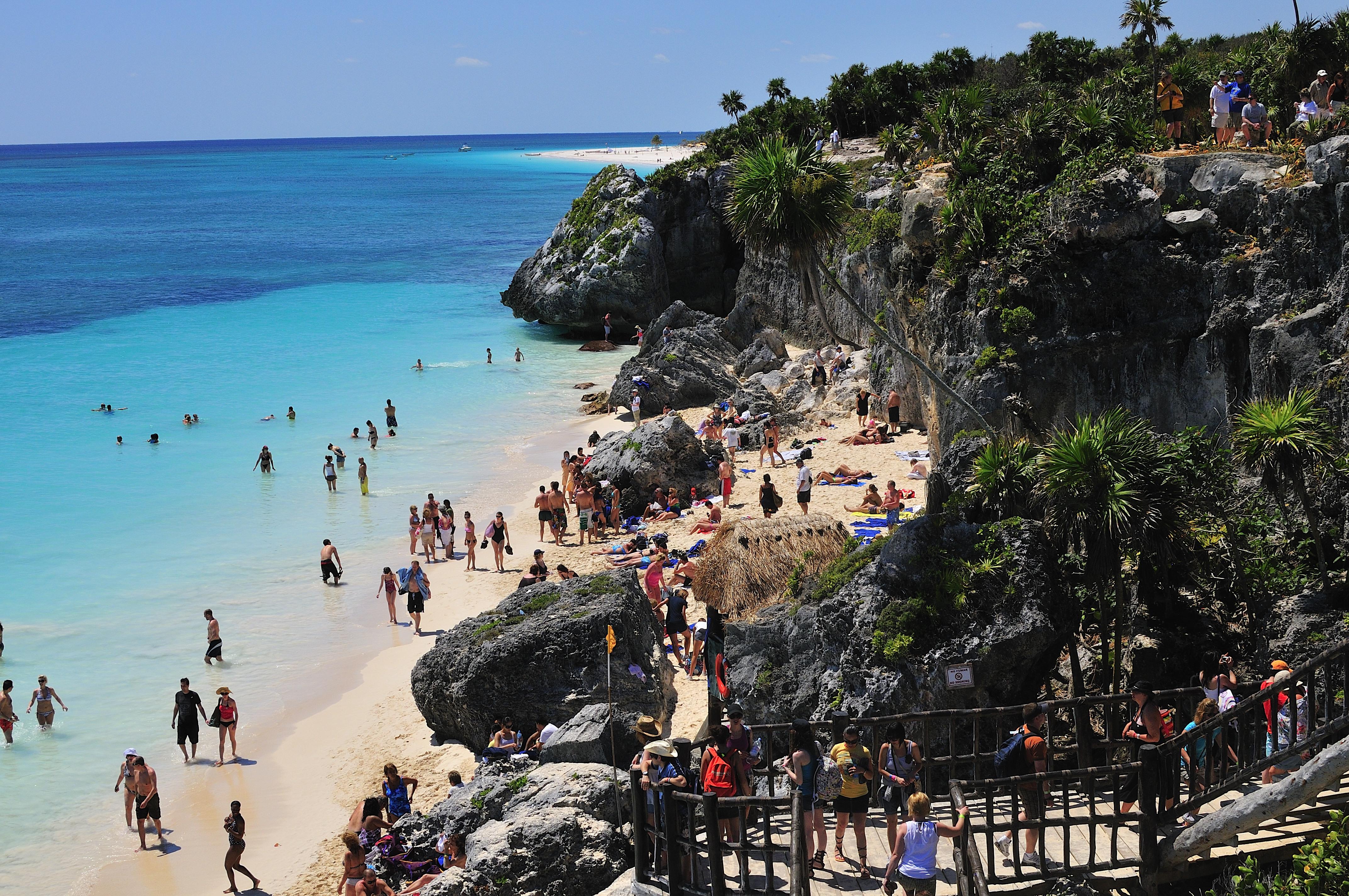 File Beach At Tulum Mexico Jpg Travel