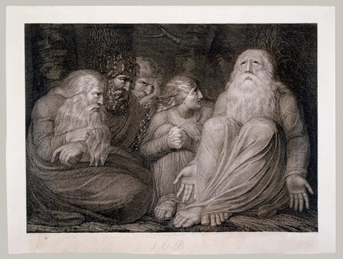 Job and his tormentors, one of William Blake's illustrations of Job.