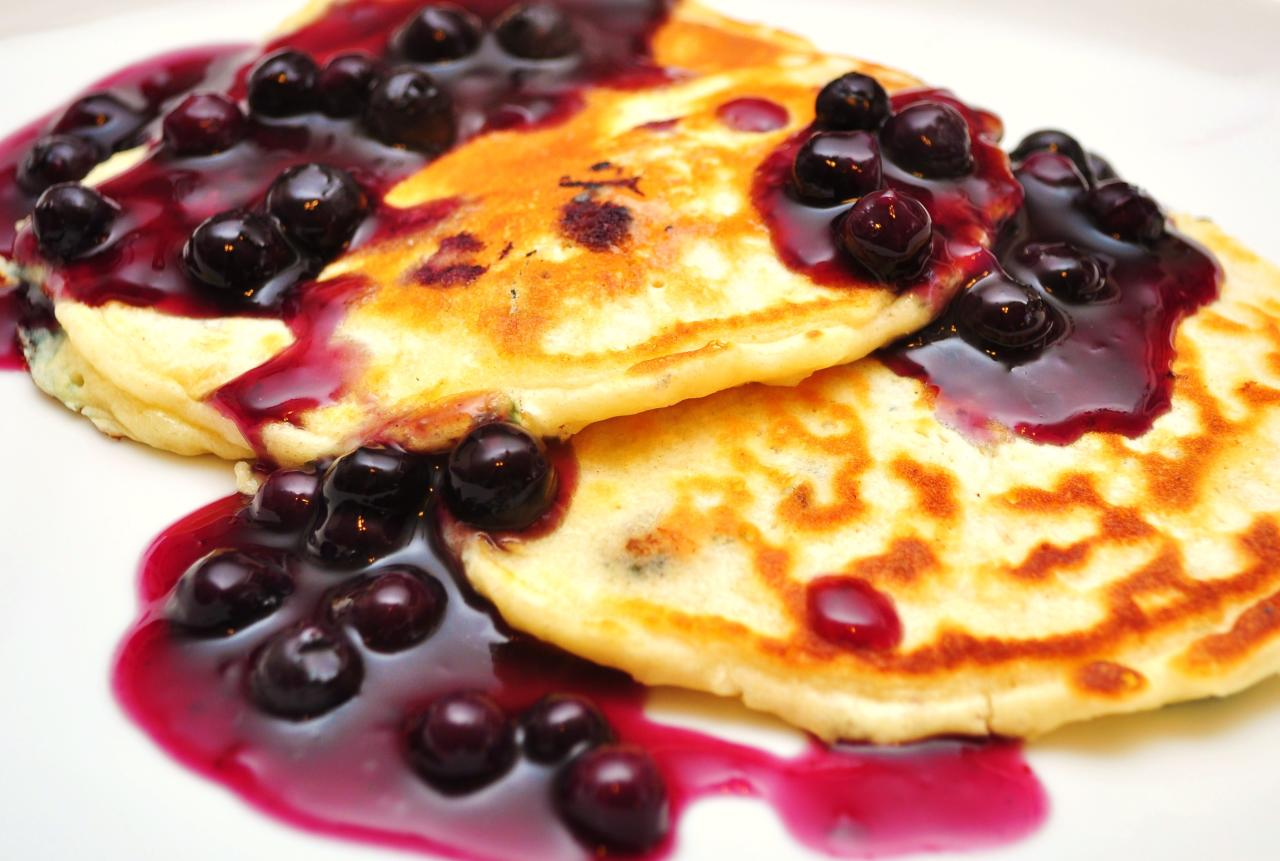 Healthy recipe  Blueberry Oatmeal Pancakes