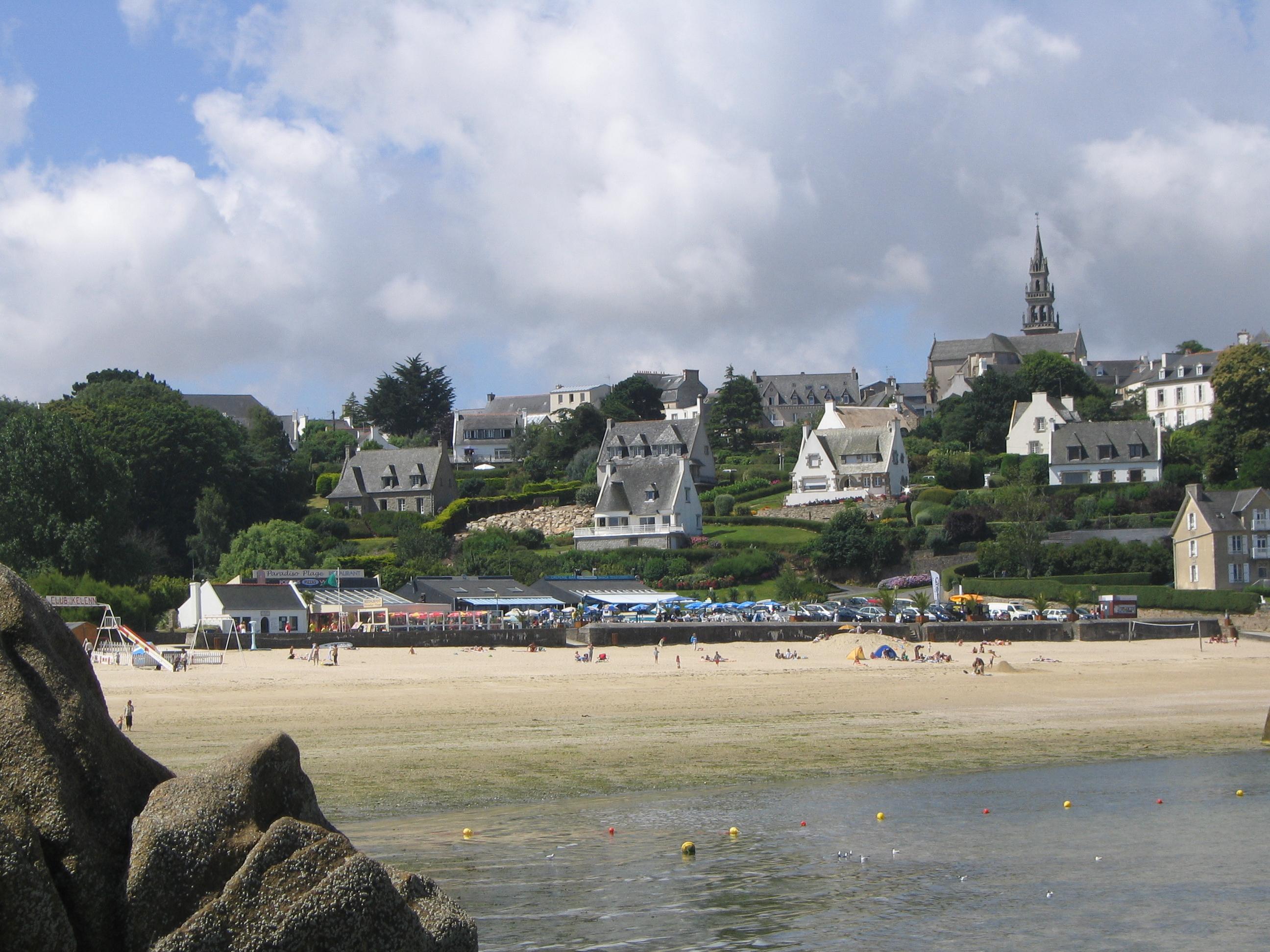 Carte Bretagne Carantec.Carantec Wikipedia