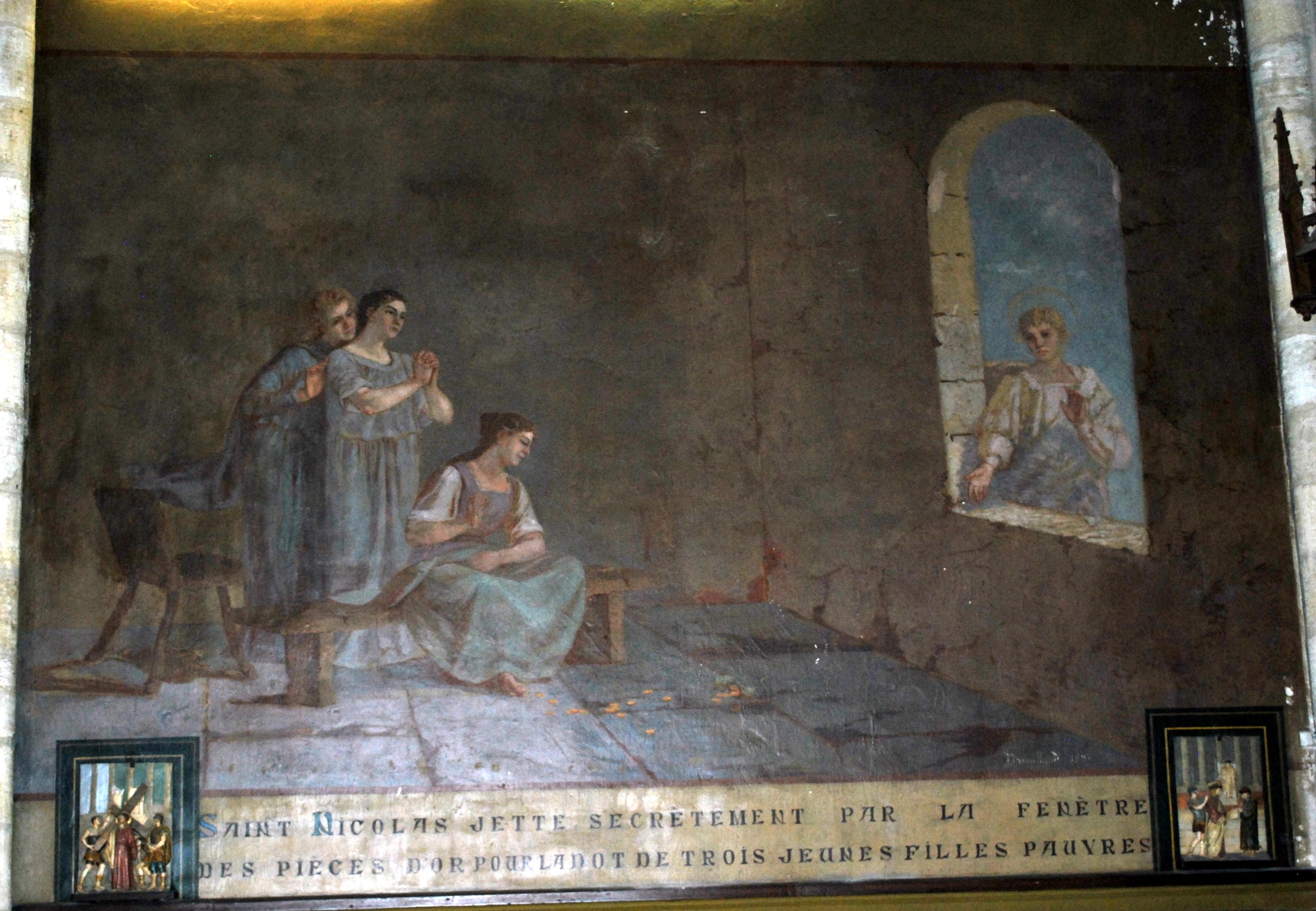 Fichier Capbreton Eglise St Nicolas Peinture Drouillard 1b Jpg Wikipedia