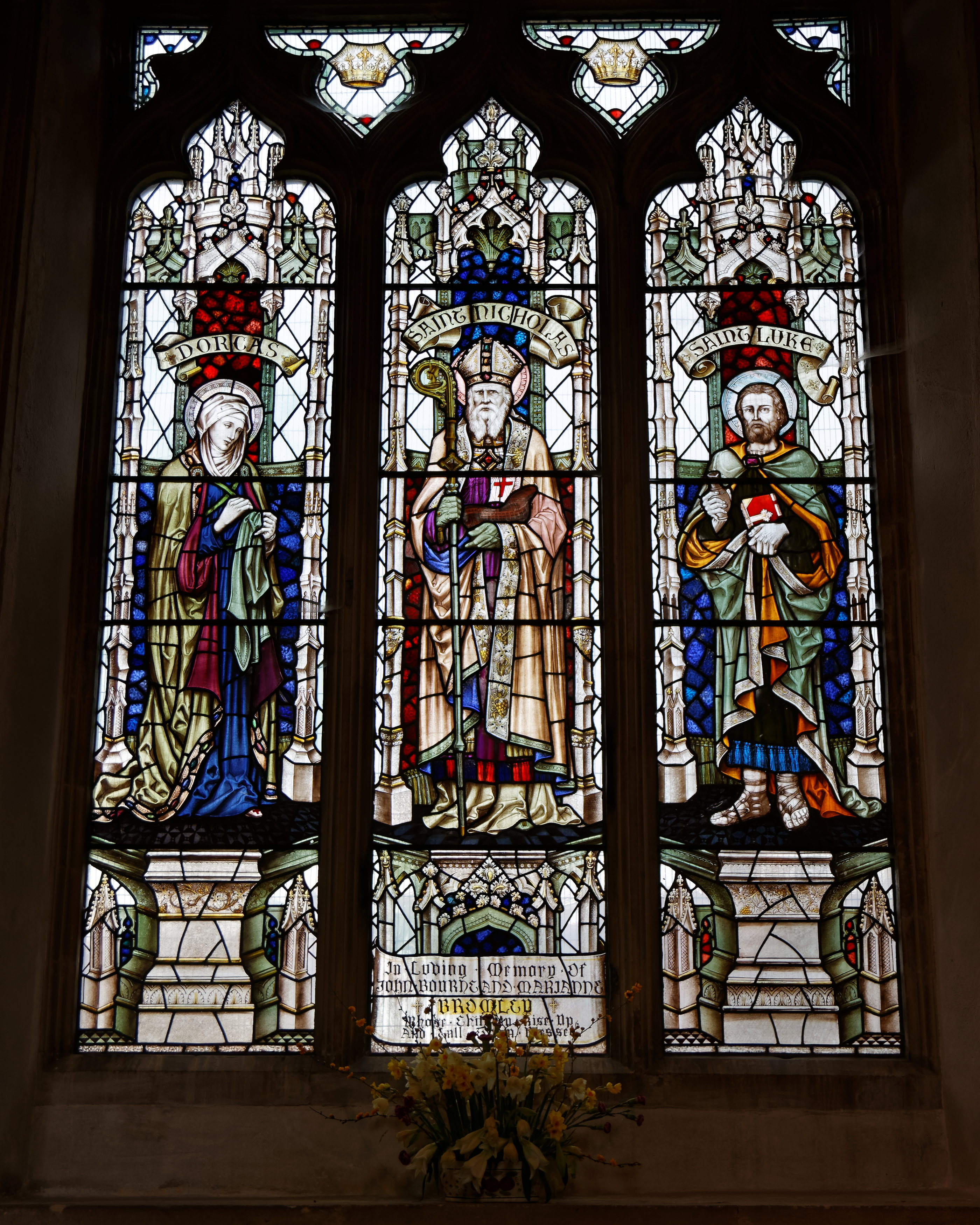 FileCastle Hedingham St Nicholas Church Essex England Stained Glass Window