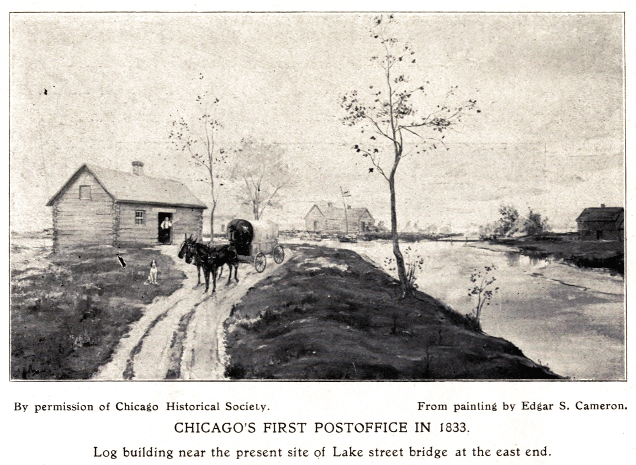 File:Chicago's first post office, 1833.jpg