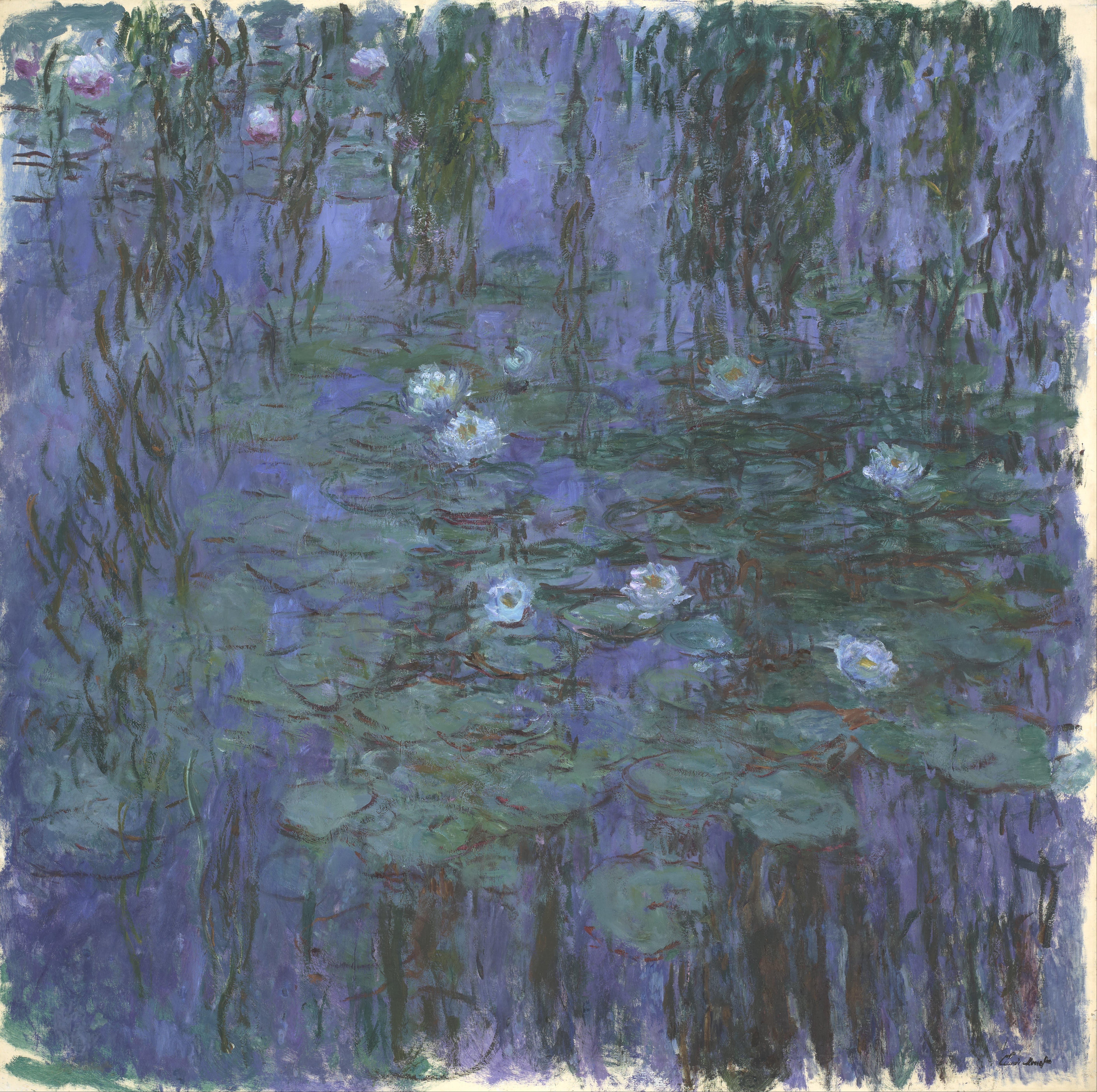 File claude monet blue water lilies google art for H2o wikipedia