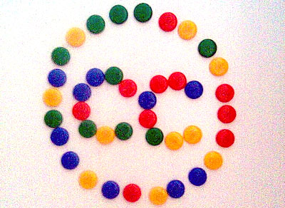Creative Commons Logo in Candy