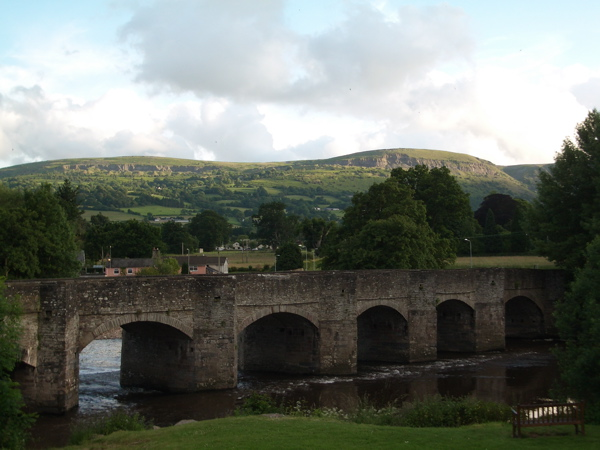Crickhowell Bridge, looking south - geograph.org.uk - 853874