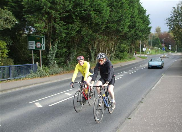 Cyclists on Killyclogher Road, Omagh - geograph.org.uk - 584320