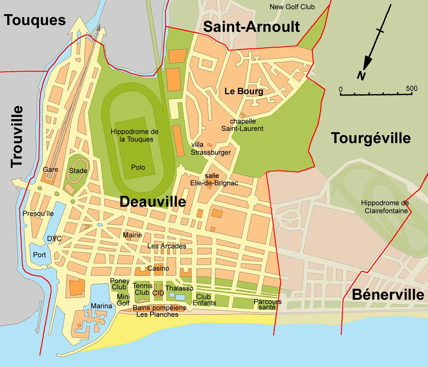 Plan de deauville arts et voyages - Office du tourisme de deauville trouville ...