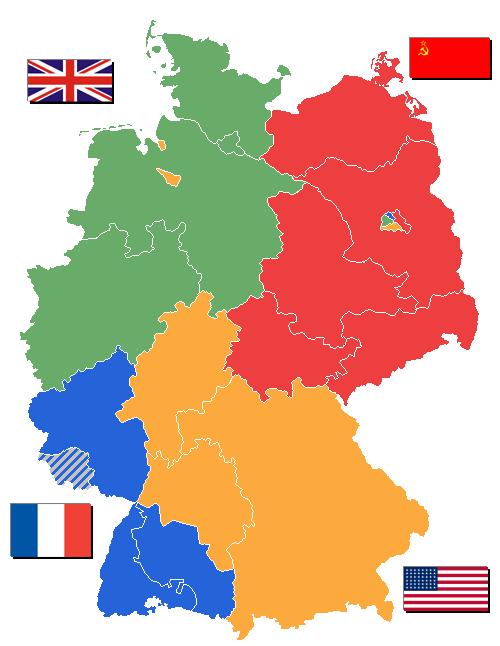Alemania después del reparto. Fuente: Wikipedia