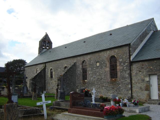 Nouainville's church, Manche, France