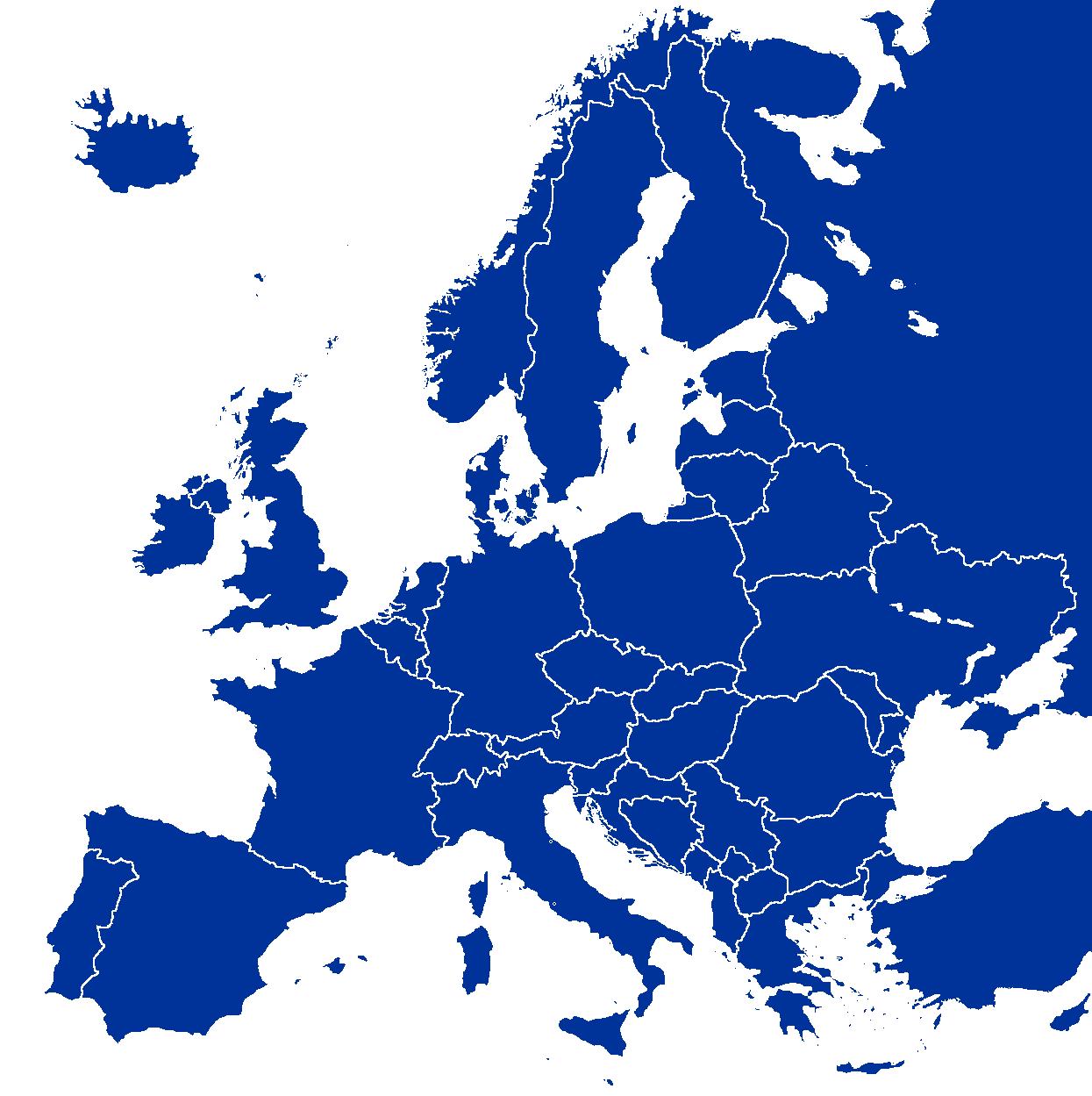evropa slepa mapa