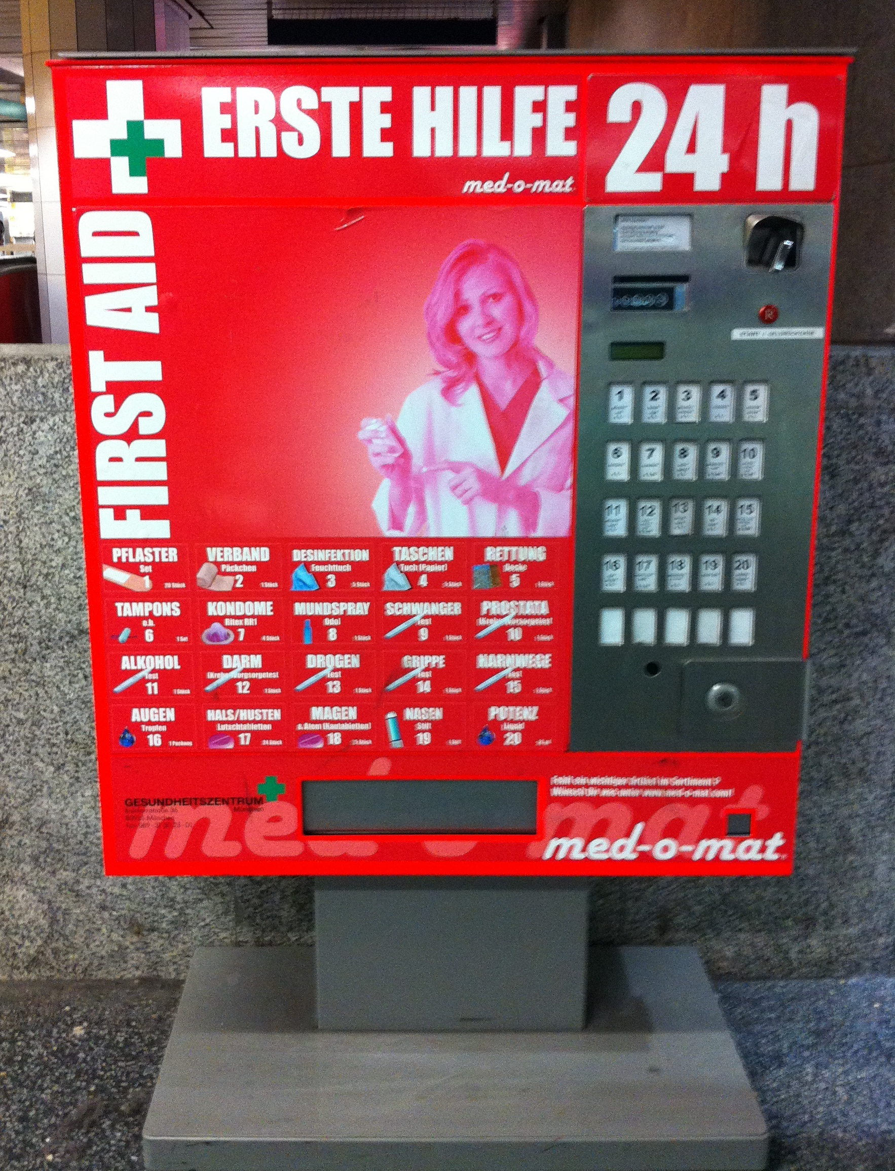 Erste-Hilfe-Automat - Quelle: Wikicommons