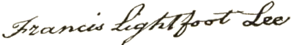 Francis Lightfoot Lee Signature
