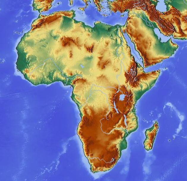 Immagini Cartina Fisica Africa.File Geografia Fisica Africa Jpg Wikibooks Manuali E Libri Di Testo Liberi