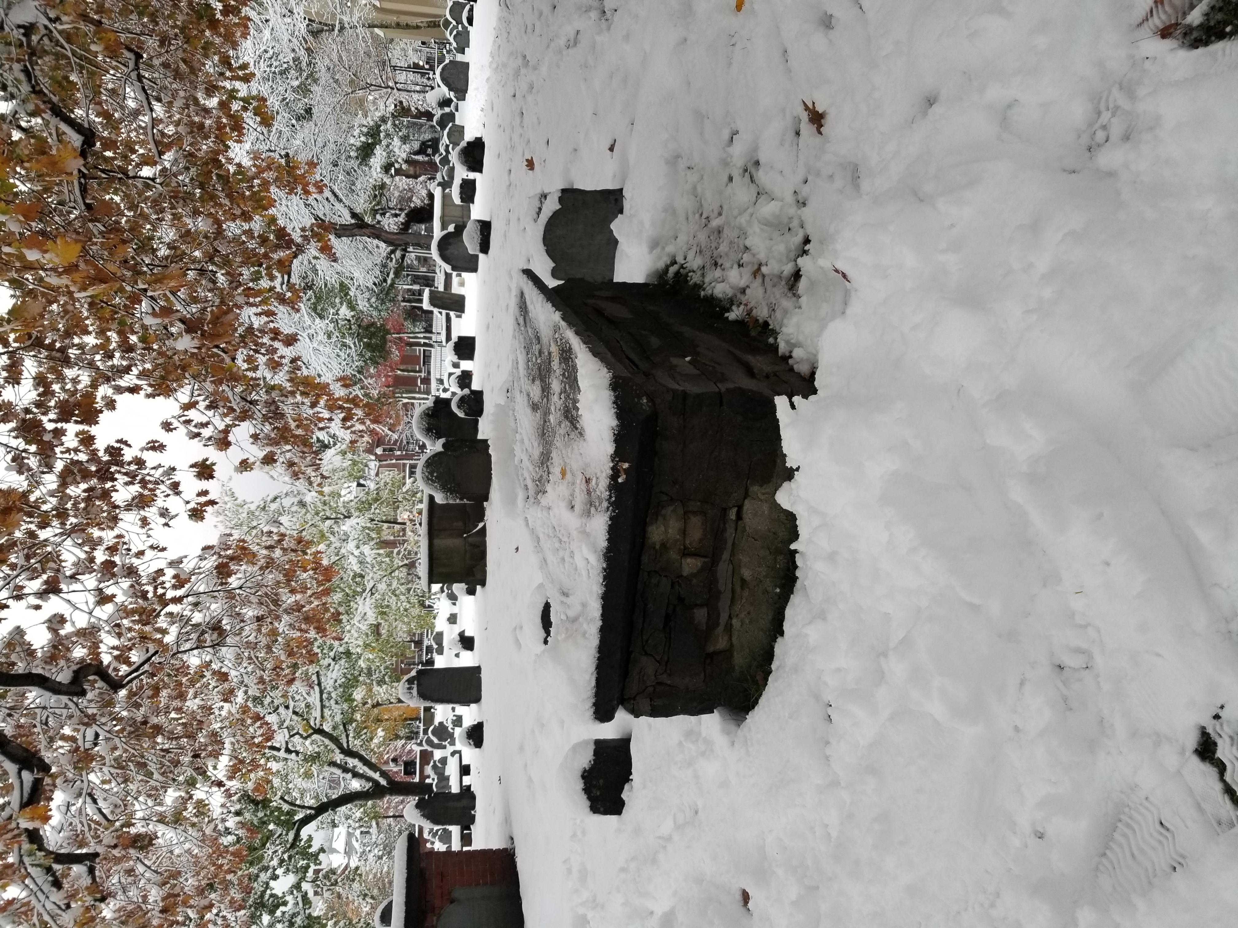 Grave of Daniel Gookin in [[Old Burying Ground (Cambridge, Massachusetts)