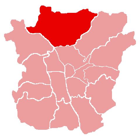 Lage des Bezirks Andritz