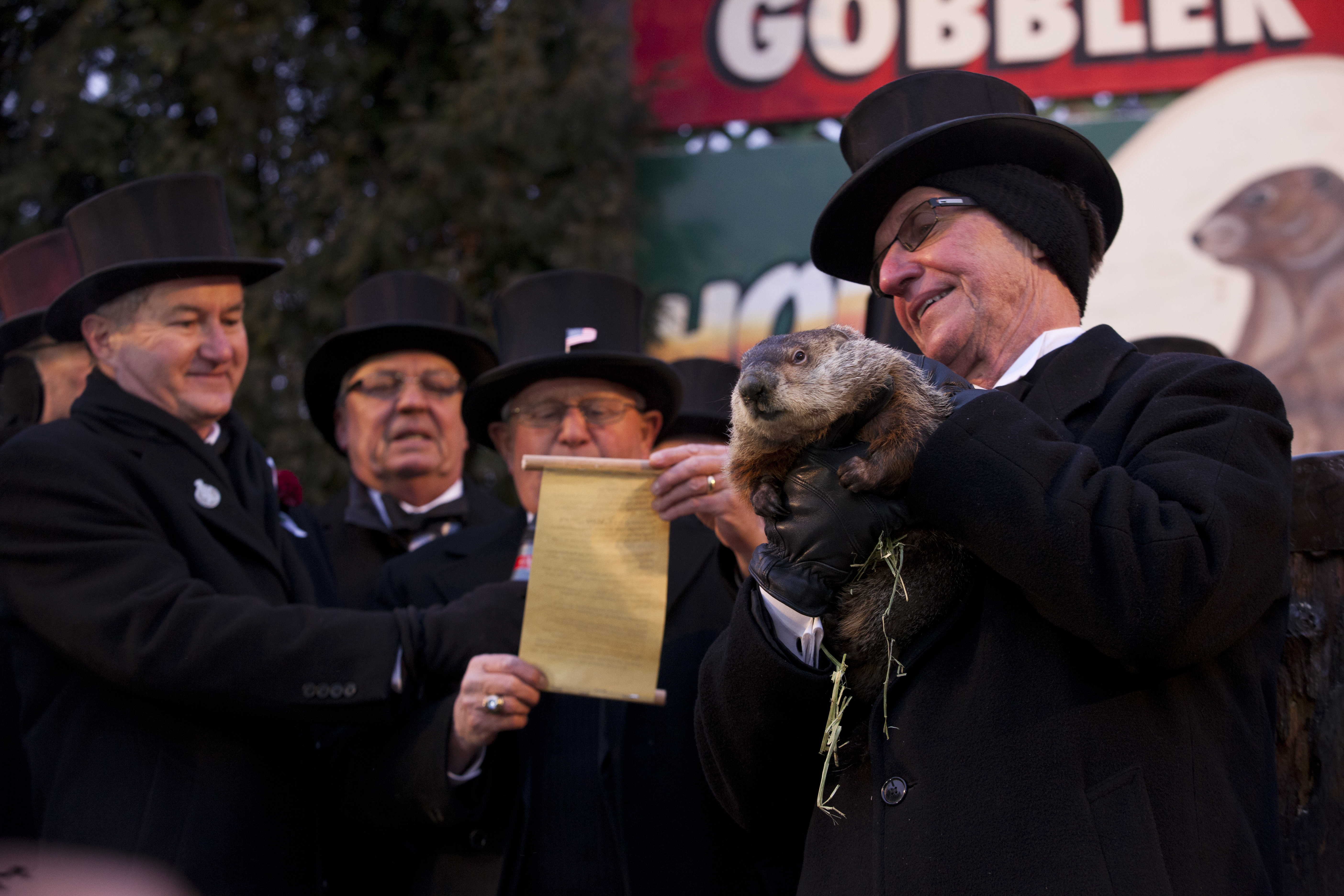 An image of the Groundhog Day celebration from 2013.