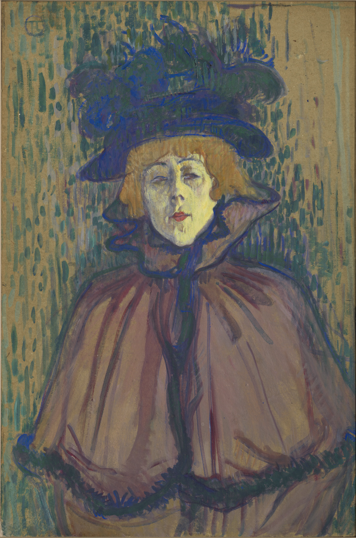Jane Avril, ca. 1892 by Toulouse-Lautrec