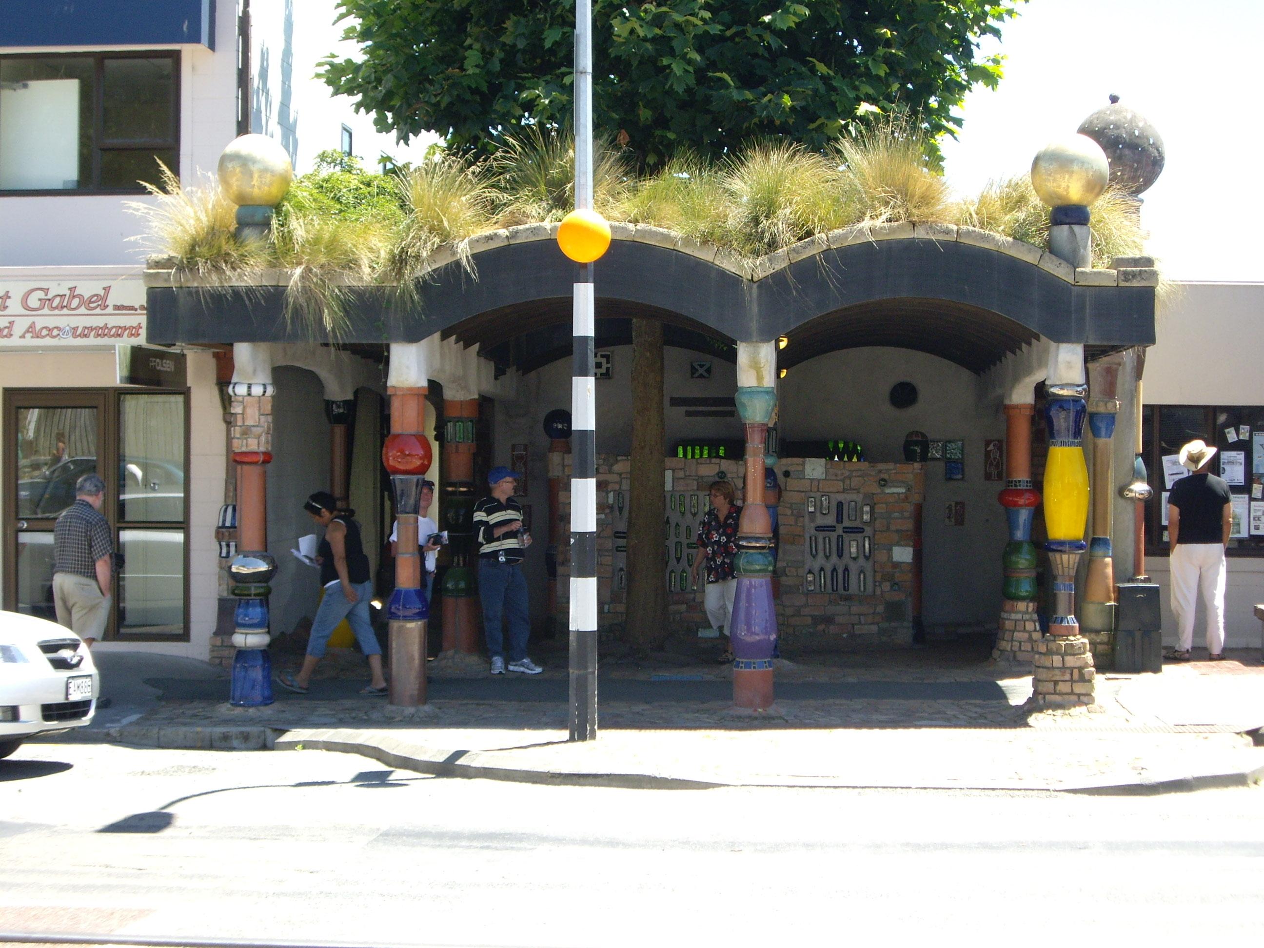 File Hundertwasser Toilets Kawakawa Entrance Jpg