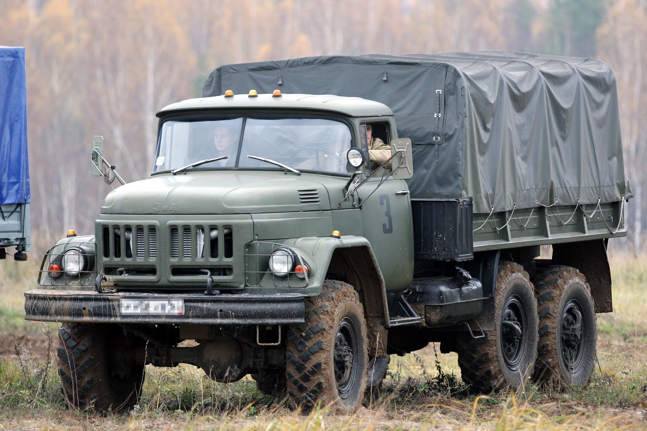 Russian Zil-131 cargo truck