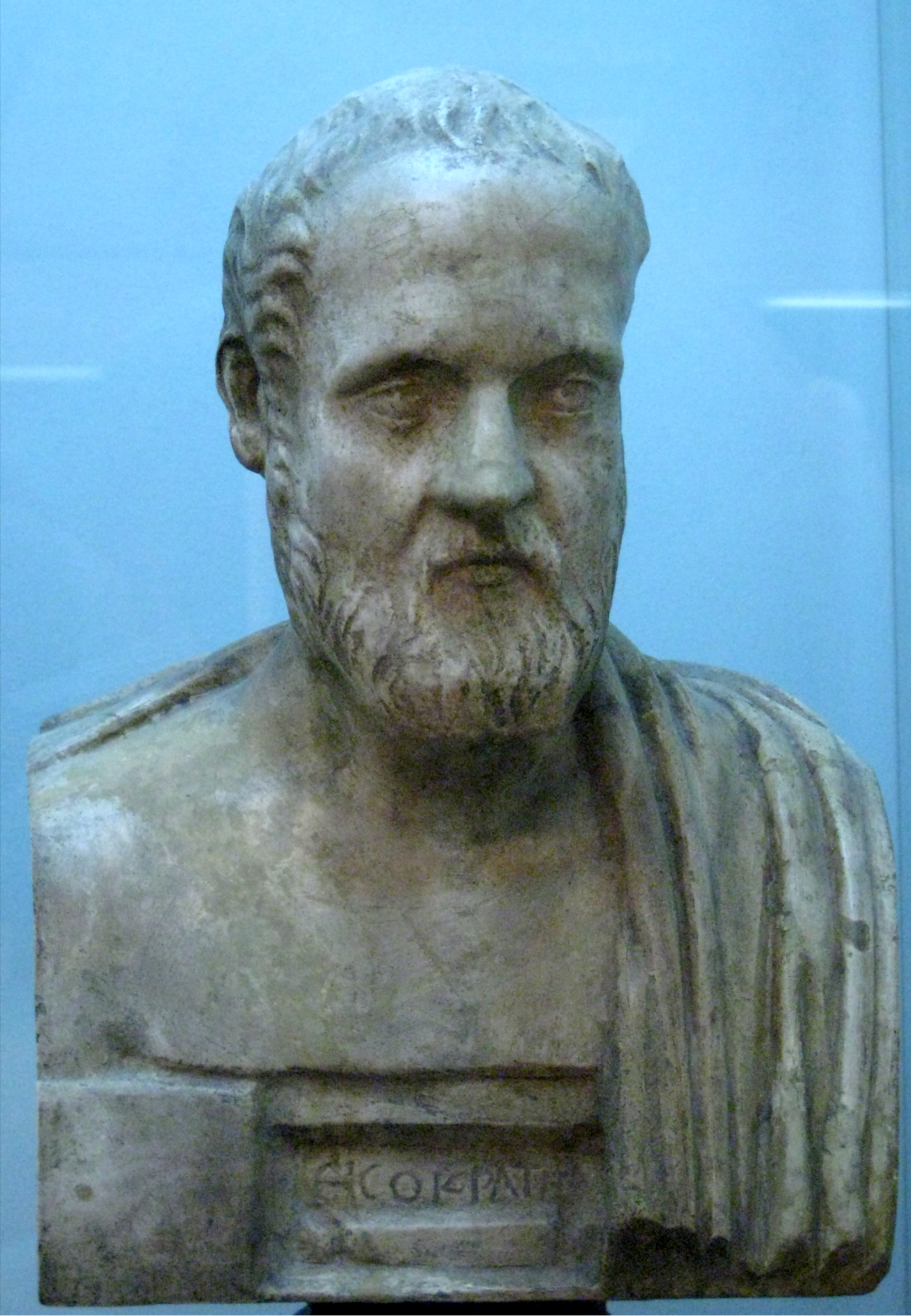 Bust of Isocrates; plaster cast in the [[Pushkin Museum