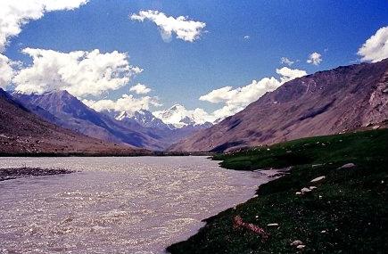 The Kun and Nun mountain range in Kargil.