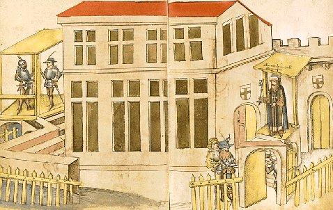 Das Konzilsgebäude in einer historischen Zeichnung