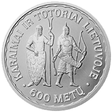 Litas commemorative coin for the 600th anniversary of Karaims and Tatars in Lithuania (1397–1997)
