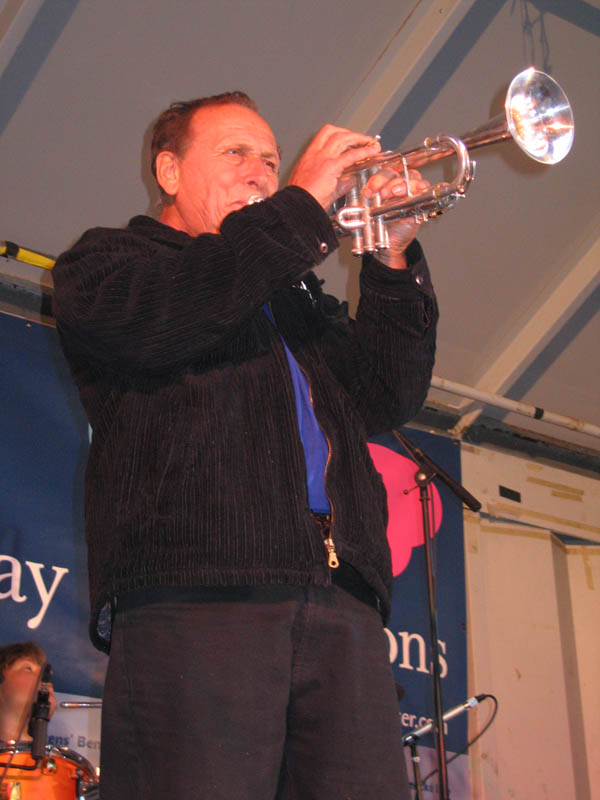 Laco Déczi performing at Czech street fest in 2006