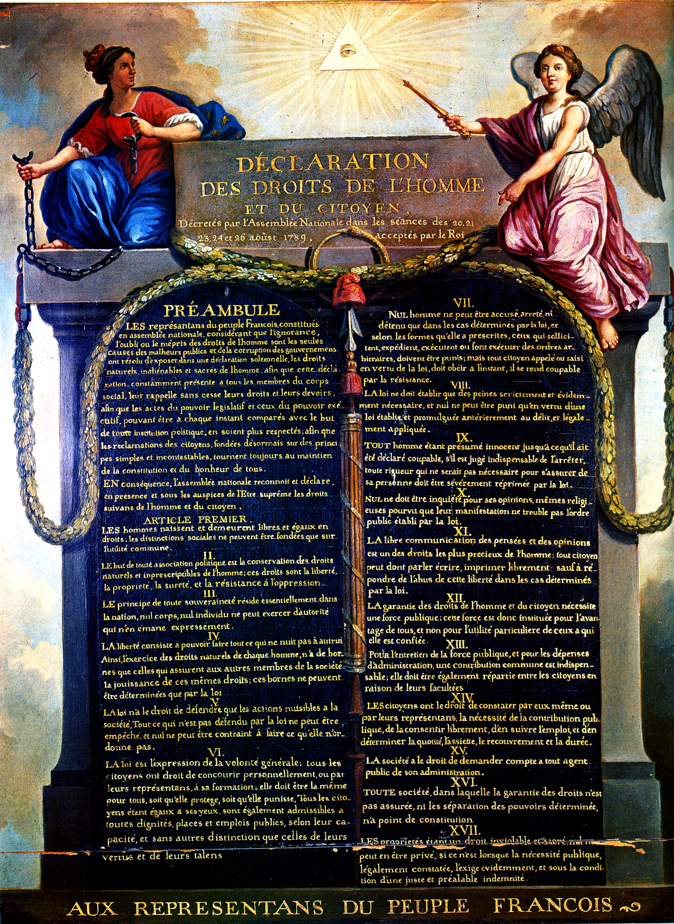 The 1789 Declaration of the Rights of Man and of the Citizen: tablets of a new civil religion.