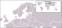 Location of Oulu in Northern Europe