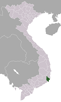 Location of Ninh Thuận Province